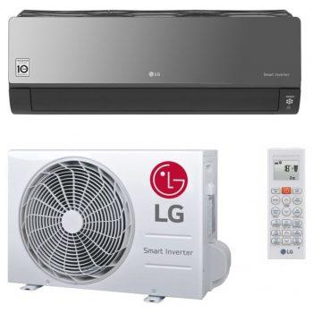 Klimatizácia LG AC12BQ, poškodený plast na vonkajšej jednotke.